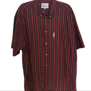 Columbia Sportswear Plaid Short Sleeve Shirt-XL